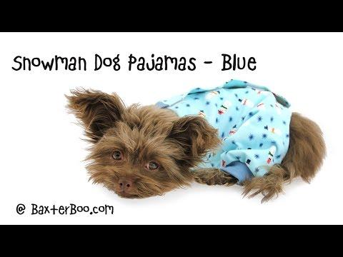 Snowman Dog Pajamas - Blue