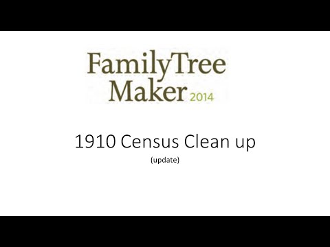 1910 Census Clean Up (update)