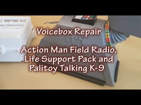 Palitoy Talking K-9 & Vintage Action Man Field Radio Voicebox Fix & Repair - OZEN Japan