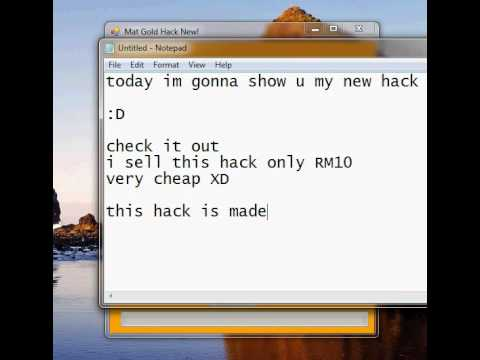 MAT GOLD HACK I SELL!