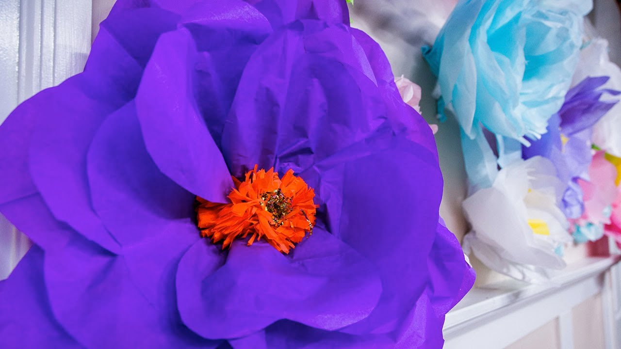 how to make oversized paper mache flowers