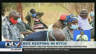 Kitui county government bolsters bee keeping as an alternative source of income