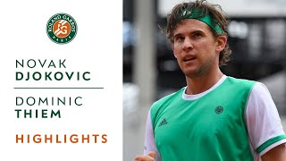 Novak Djokovic v Dominic Thiem Highlights - Men's Quarterfinals 2017 | Roland-Garros