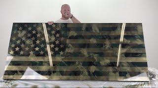 DIY American Flag   Spray Paint & Epoxy Project
