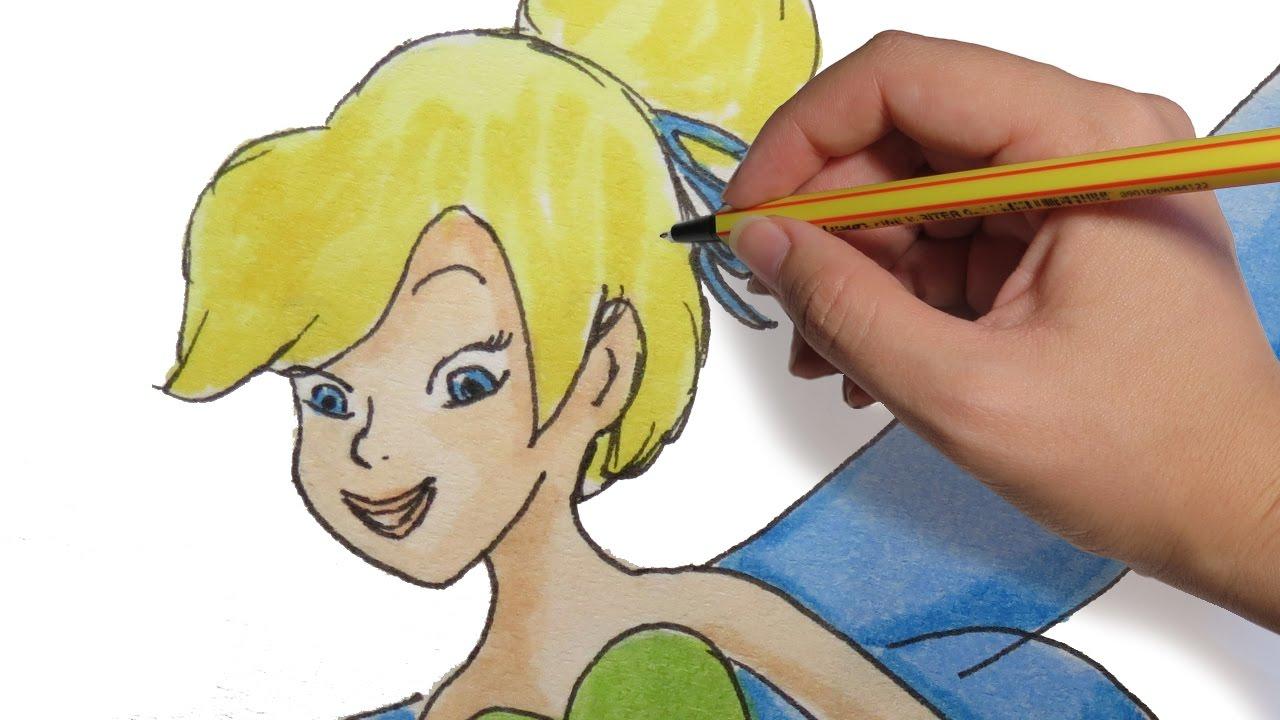 Como Dibujar Un Hada Campanillacampanita Paso A Paso Facil A Color
