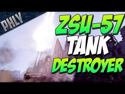 ZSU-57-2 TANK DESTROYER (War Thunder Tanks Gameplay)