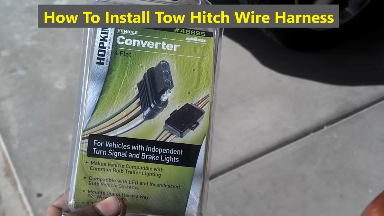 How To Install A Trailer Wire Harness For Towing Youtube 7 Pin Vehicle Wiring Diagram