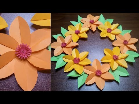 BEAUTIFUL CREATION | AN EASY WALL HANGING DECORATION | DIY USEFUL PAPER CRAFTS