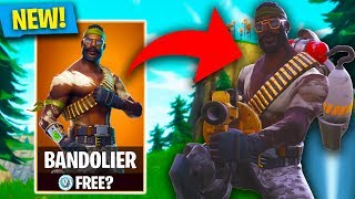 NEW BANDOLIER SKIN! Fortnite NEW Store update! (Fortnite: Battle Royale)