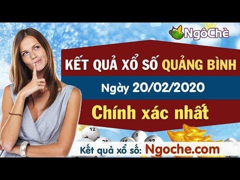 XS Quảng Bình 20/2 - XSQB - Xổ Số Quảng Bình Ngày 20 Tháng 2 Năm 2020 - Xổ Số Quảng Bình Thứ Năm