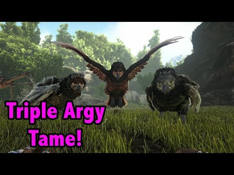 TROUBLING TRIPLE ARGY TAME! -=- Ark Island PvP Ep 3!