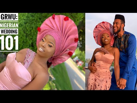 GRWU: BEST NIGERIAN WEDDING EVER IN CANADA || Gele, Perfect Wedding Makeup & Outfits thumbnail