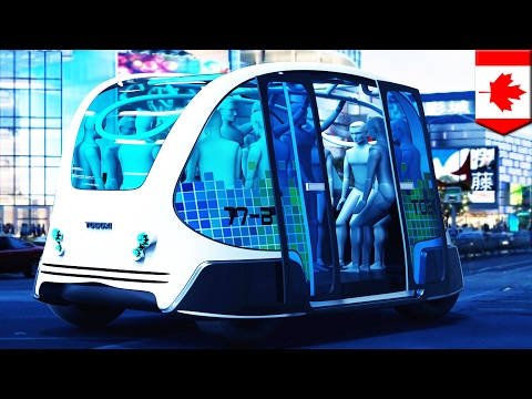 Driverless buses: Cool 'Toboxi' concept electric bus has no driver, can carry 12 people - TomoNews