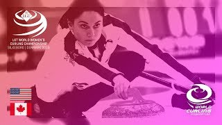 United States v Canada - round robin - LGT World Women's Curling Championships 2019