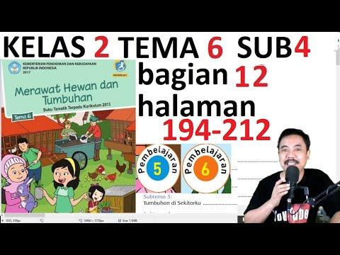 Tema 6 Kelas 2  Subtema 2 Halaman 194 212 Merawat Hewan Dan Tumbuhan Bagian 12 Rev 2017