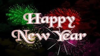 Happy New Year 2018 Wishes Whatsapp status Quotes Fireworks Countdown Free Download