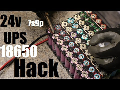 18650 24v Ups Hack pt1 Build, Setup and Discharge Test
