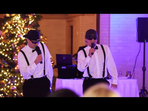 Brothers of the Bride Do a Surprise Rap/Toast at Wedding Reception