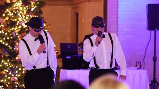 Brothers of the Bride Do a Surprise Rap/Toast at Wedding Rec...