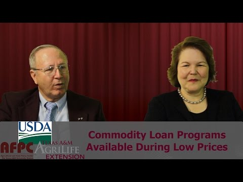 Commodity Loan Programs Available During Low Prices