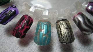 Swatches   Nails Inc, La Girls, Icing & Justice Crackle Polishes