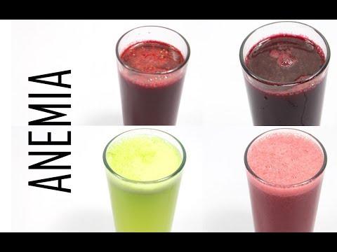 4 jugos curativos para combatir la anemia o deficiencia de hierro en el cuerpo de manera natural