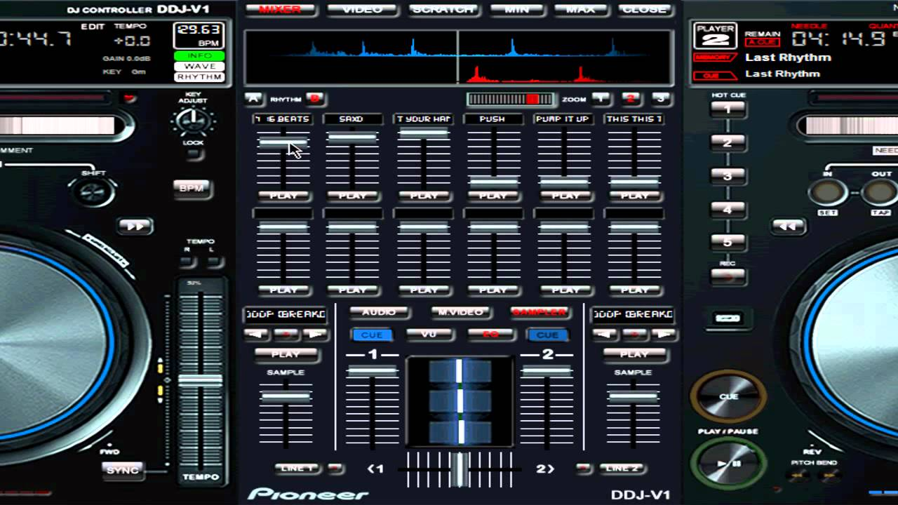 New Virtual DJ V7 Pro Skin Pioneer DDJ V1 V10 Full Release Jan 2012