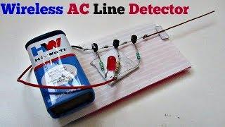 Kablosuz AC Hat Dedektörü Devresi Kolay bir Şekilde yapmak için Nasıl AC Hat Dedektörü -