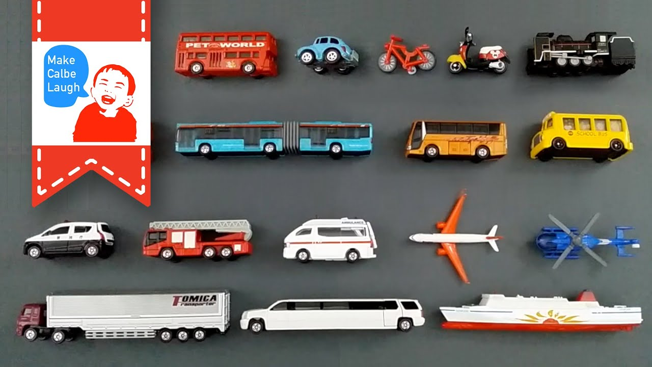 Learning Street Vehicles Names and Sounds for kids with tomica 2015 ...