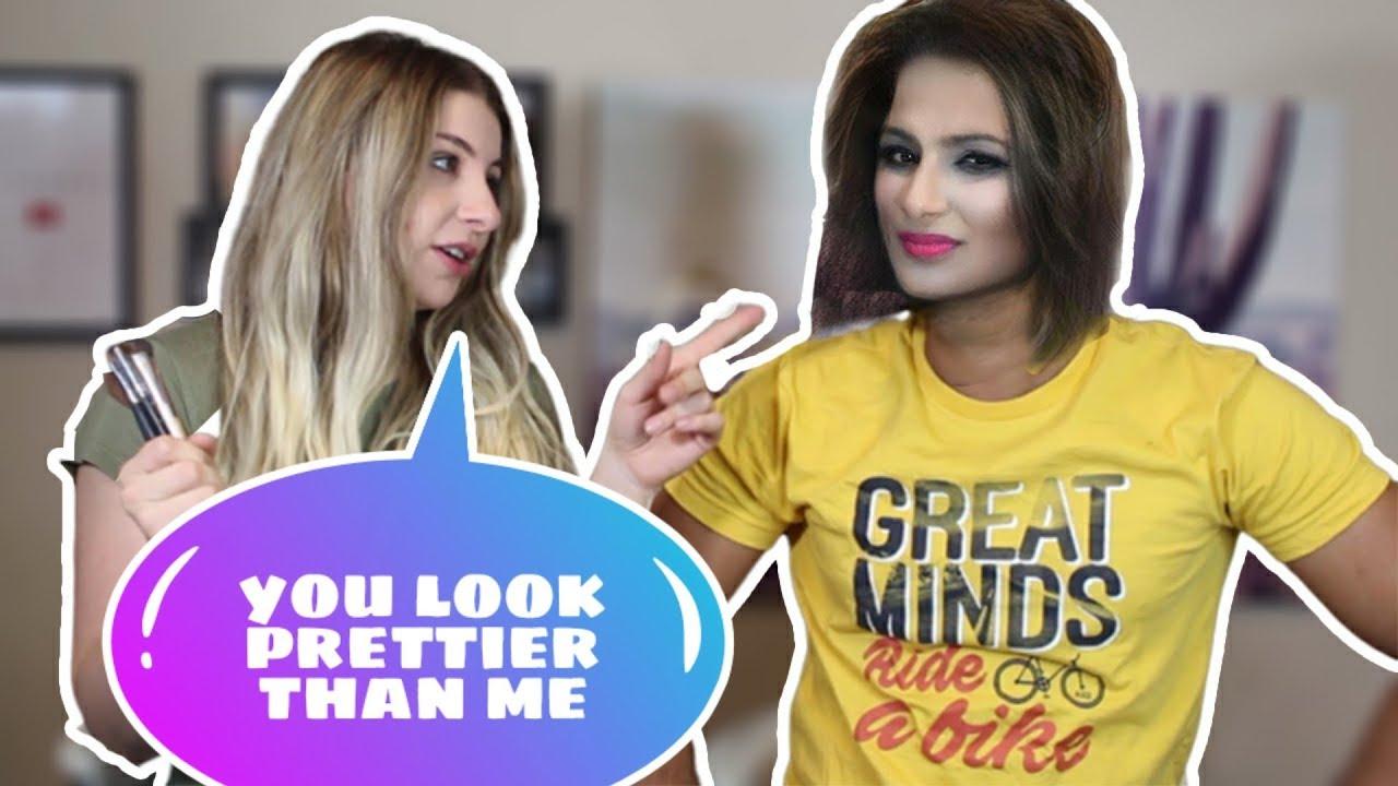 Doing My Indian Boyfriends Makeup | He Looks Like A Girl