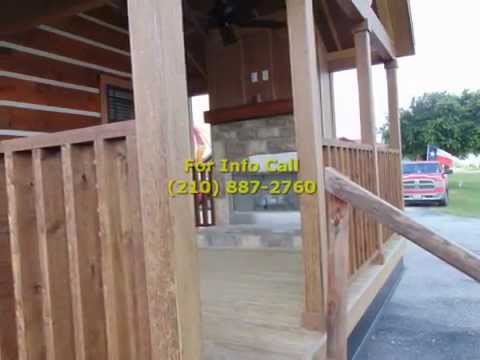 1 Bedroom 1 Bath Cabin With Porch & Outdoor Fireplace