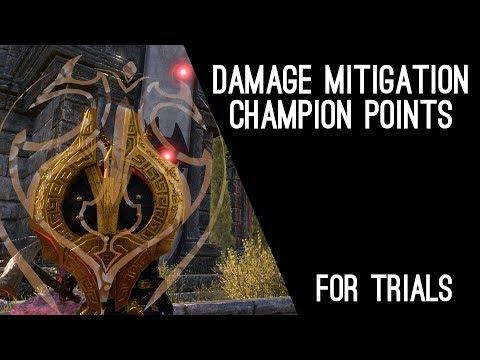 Damage Mitigation in Trials, with Champion Points - Elder Scrolls Online ESO