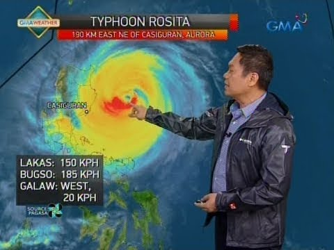 Saksi: Typhoon Rosita, nagbabanta sa Isabela-Aurora area