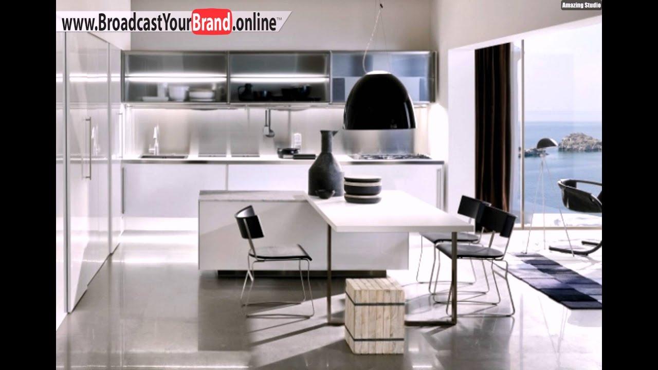 Schiebetursystem Marmor Arbeitsplatte Moderne Kuche Spatia Youtube