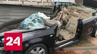 Водитель без прав влетел в аварийный выход минского метро - Россия 24