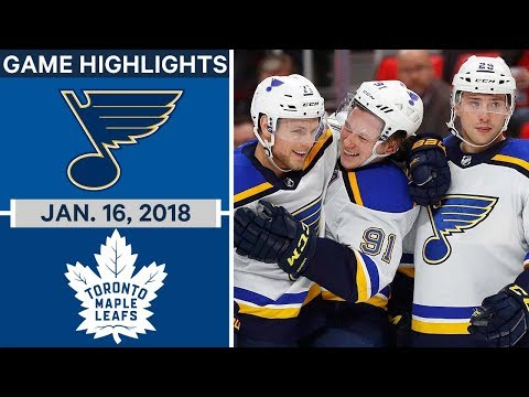 NHL Game Highlights | Blues vs. Maple Leafs — Jan. 16, 2018