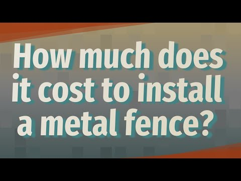 How much does it cost to install a metal fence?