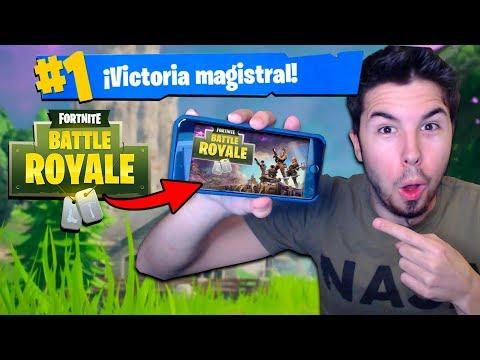 Jugando FORTNITE en MÓVIL y Tablet! Fortnite: Battle Royale Challenge