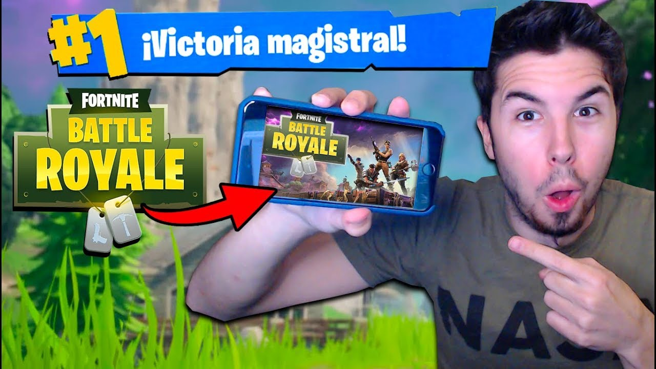 Jugando Fortnite En Movil Y Tablet Fortnite Battle Royale