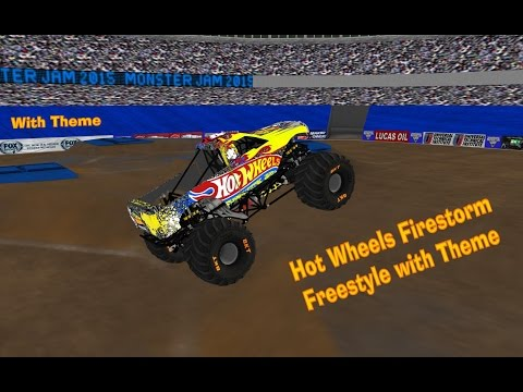 RoR Monster Trucks Freestyle with Theme Hot Wheels Firestorm