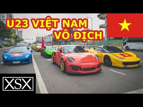 Cường Đô La Và Dàn Siêu Xe 100 Tỷ Đi BÃO Cổ Vũ U23 Việt Nam | XSX