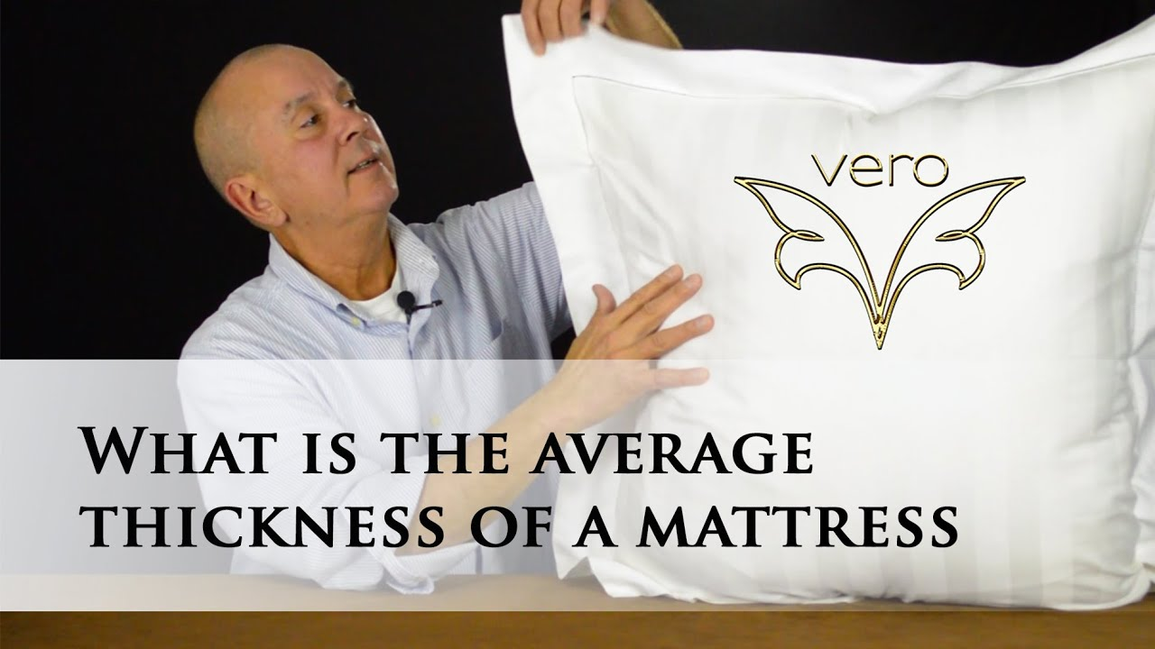 what is the average thickness of a mattress youtube. Black Bedroom Furniture Sets. Home Design Ideas