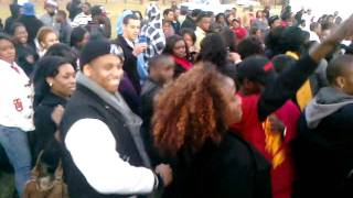 Tristan Wilds & Elijah Kelley at Tuskegee University doing the Wobble Dance