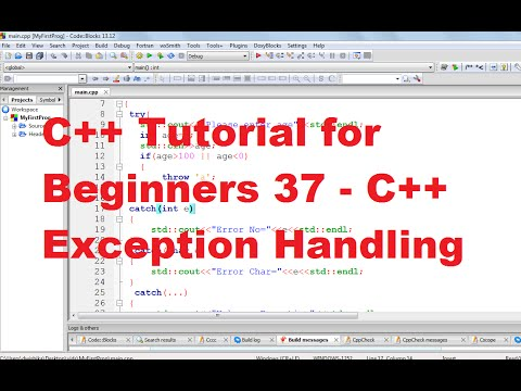 C++ Tutorial for Beginners 37 - C++ Exception Handling (Try Throw Catch)