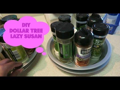 diy lazy susan from dollar tree vlog style