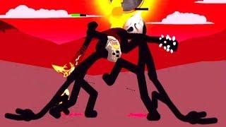 【小熙解说】火柴人战争 终极对战! 狮鹫与超级BOSS银甲大帝的对决!