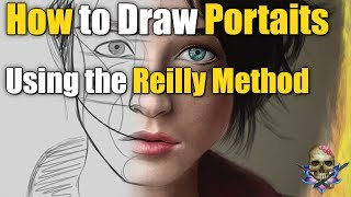 How to Draw a PORTRAIT Using the REILLY METHOD - Art Tutorial / Time Lapse