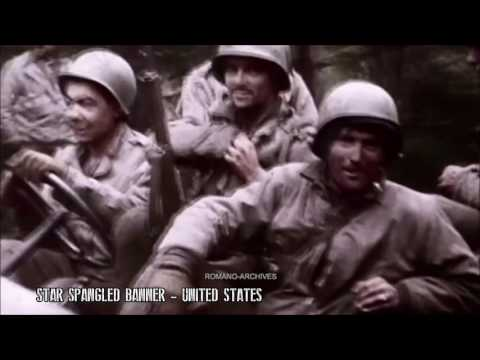 World War II: Allied Anthems Medley [WWII Footage]
