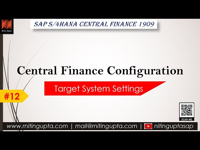 SAP Central Finance Configuration Video 12