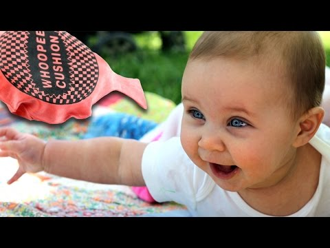 Funny Babies Laughing at Whoopee Cushions